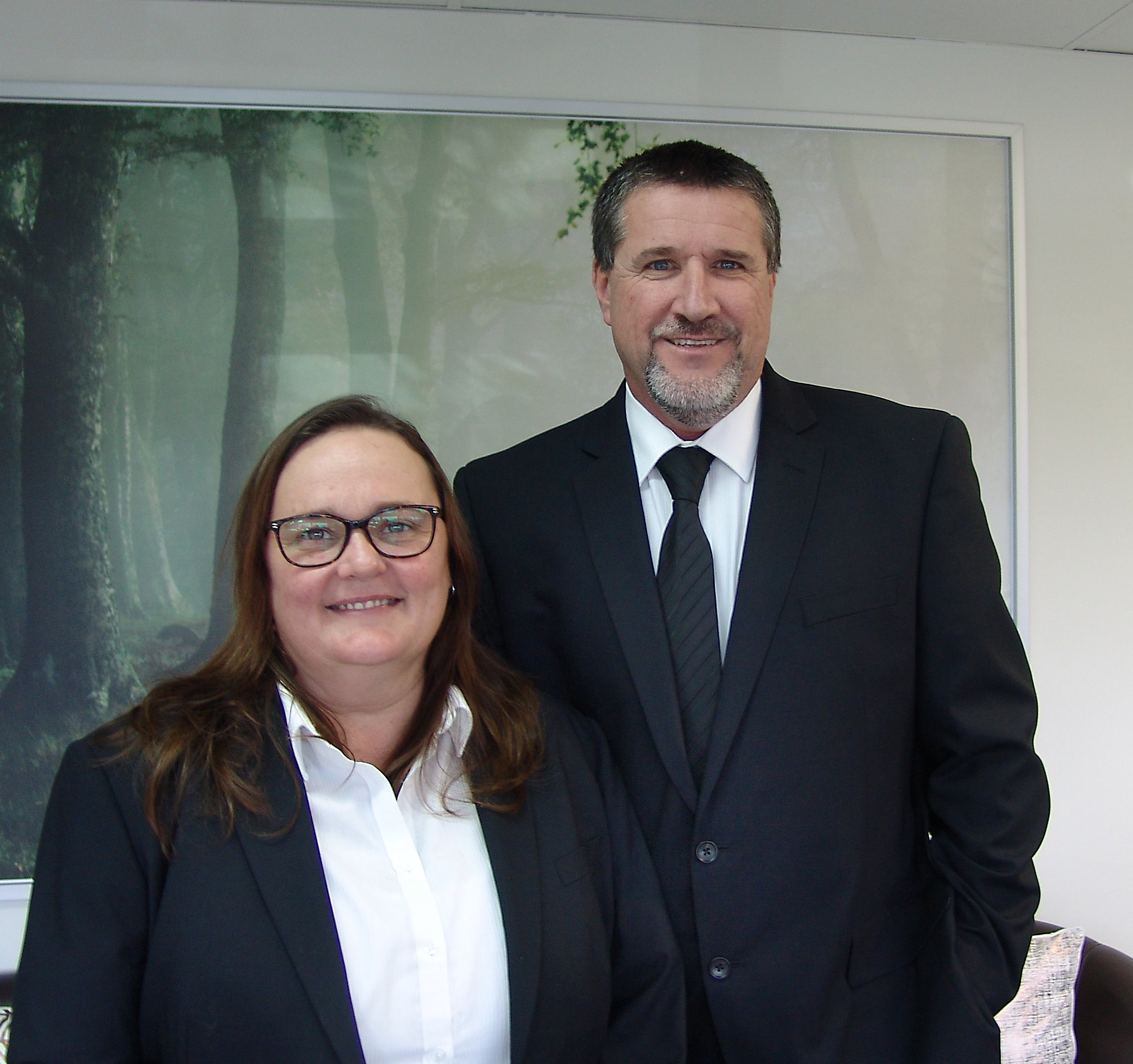 Image of Funeral Director Ian Greenall and office manager Colleen Greenall