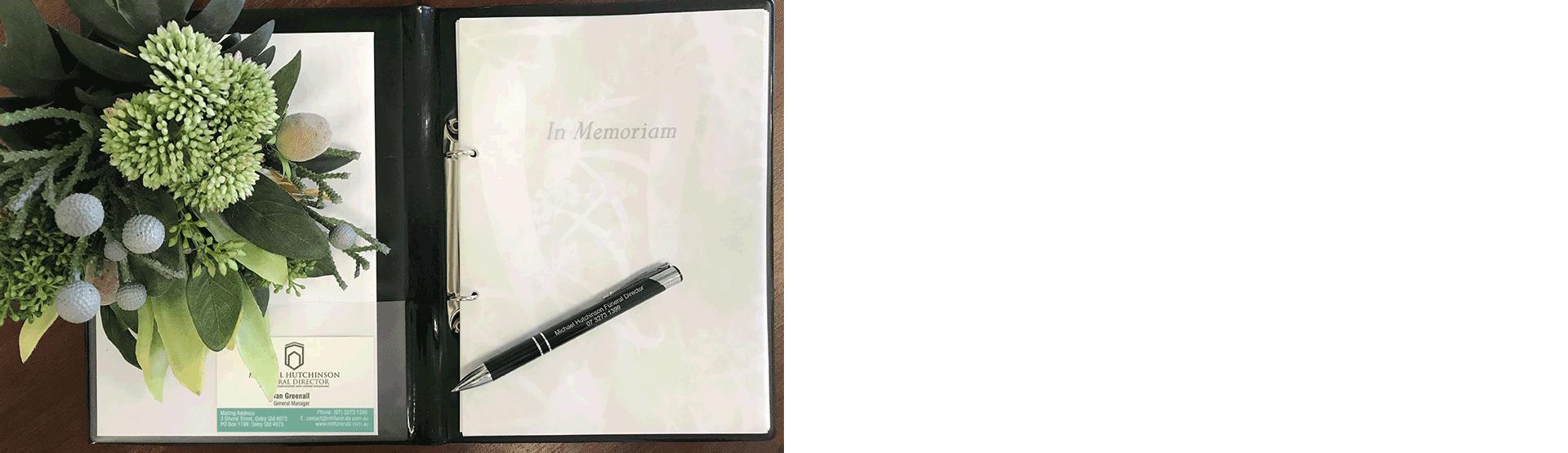 Home MH Funerals Memorial Booklet